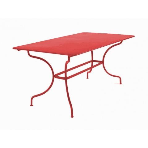 Table MANOSQUE de Fermob coquelicot