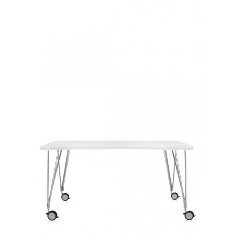 Table MAX de Kartell, Blanc Zinc, L.190 X H.73 X P.90