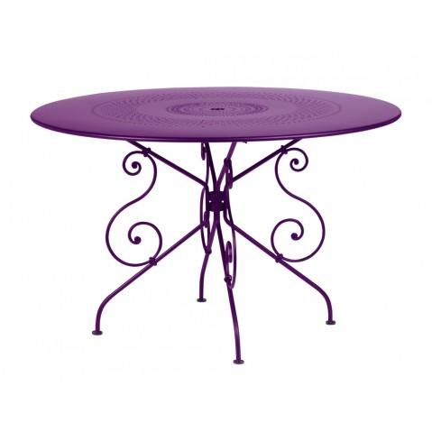 Table MONTMARTRE de Fermob D.117 aubergine