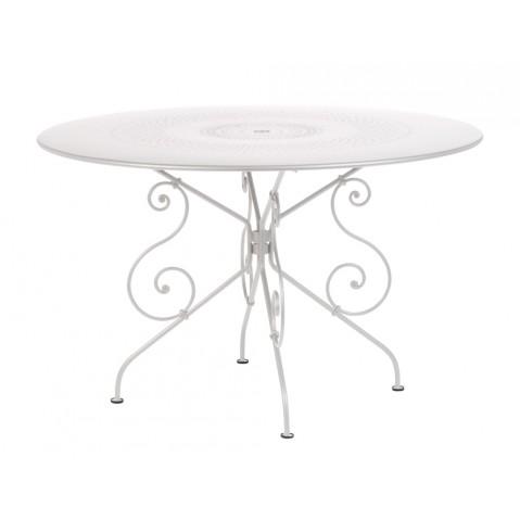 Table MONTMARTRE de Fermob D.117, Blanc Coton