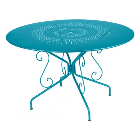 Table MONTMARTRE de Fermob D.117 bleu turquoise