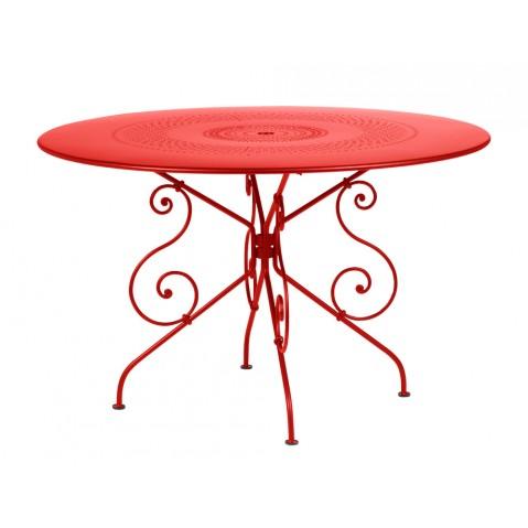 Table MONTMARTRE de Fermob D.117 coquelicot