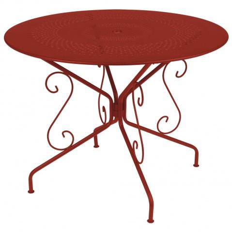 Table MONTMARTRE de Fermob D.117 piment