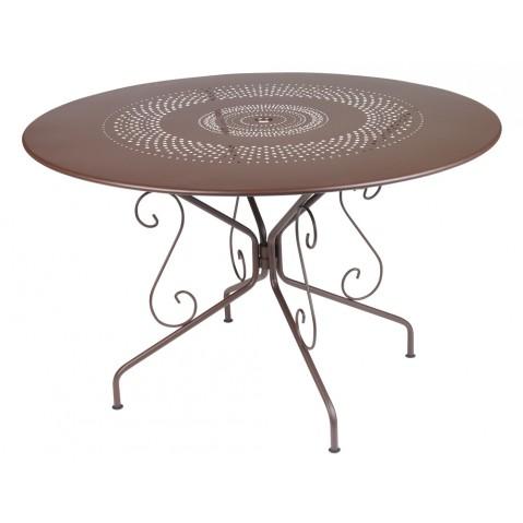 Table MONTMARTRE de Fermob D.117 rouille