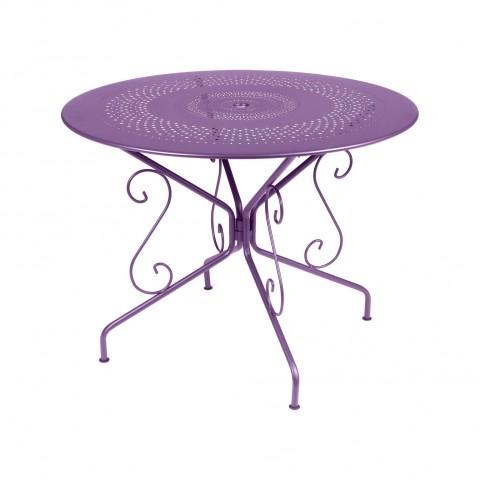 Table MONTMARTRE de Fermob D.96, Aubergine