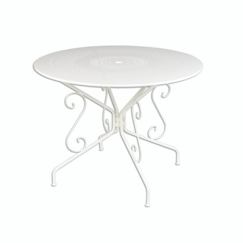 Table MONTMARTRE de Fermob D.96, Blanc Coton