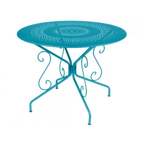 Table MONTMARTRE de Fermob D.96, Bleu Turquoise