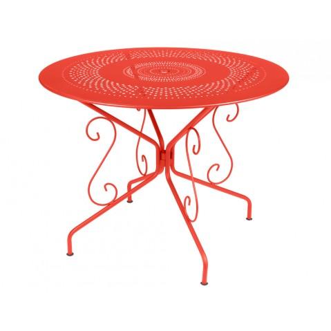 Table MONTMARTRE de Fermob D.96 Capucine