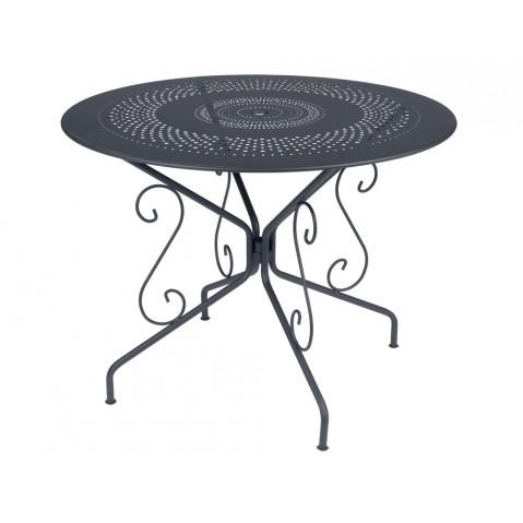Table MONTMARTRE de Fermob D. 96 Carbone