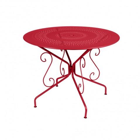 Table MONTMARTRE de Fermob D.96 coquelicot