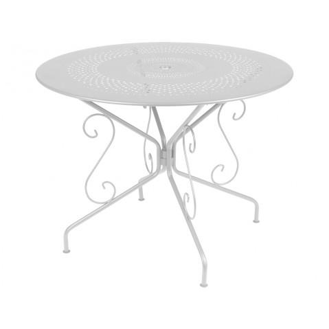Table MONTMARTRE de Fermob D.96, Gris Métal