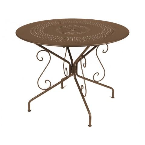 Table MONTMARTRE de Fermob D.96 rouille