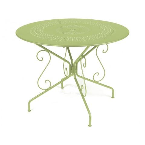 Table MONTMARTRE de Fermob D.96, Tilleul