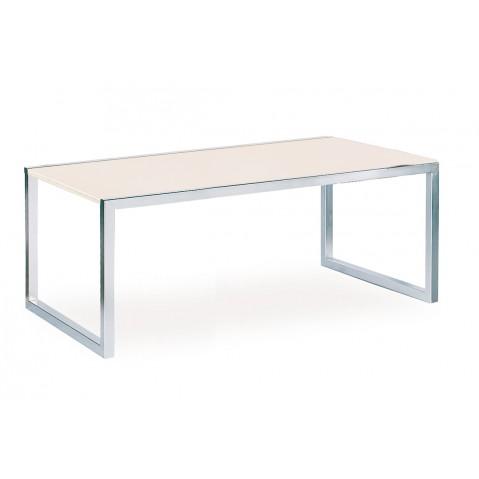 Table NINIX 200 de Royal Botania verre EP, blanc