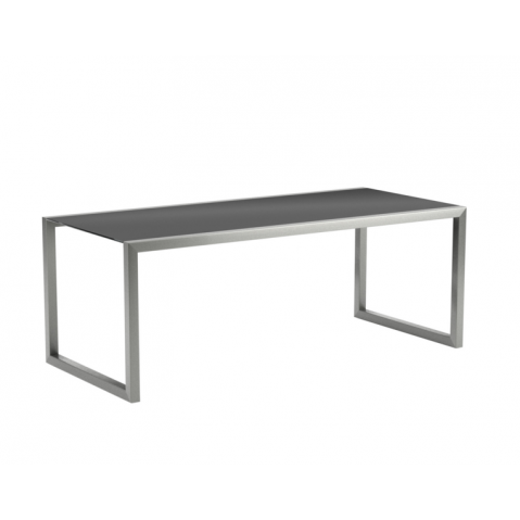 Table Ninix 200 de Royal Botania verre noir