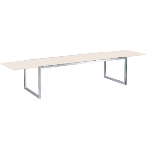 Table NINIX 360 de Royal Botania verre blanc