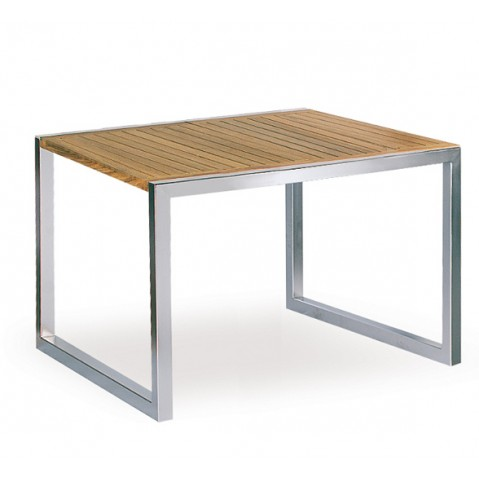 Table NINIX teck de Royal Botania, 90x90