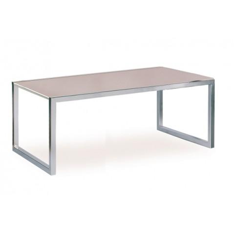 Table NNIX 200 de Royal Botania verre, cappuccino