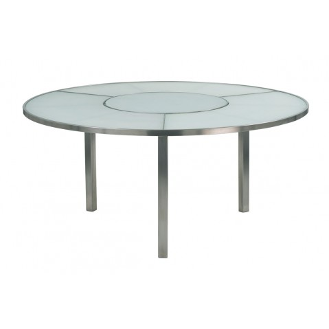 Table O-ZON 160 en verre de Royal Botania, blanc