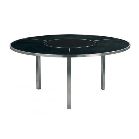 Table O-ZON 160 en verre de Royal Botania, noir