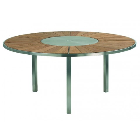 Table O-ZON 160 Teck/Inox EP de Royal Botania