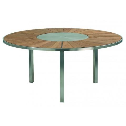Table O-ZON 160 Teck/Inox EP de Royal Botania