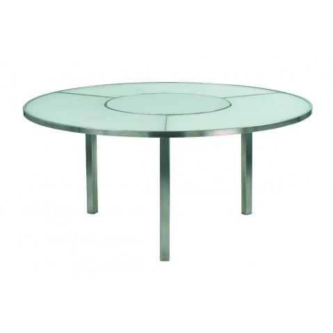Table O-ZON 160 verre EP de Royal Botania, blanc