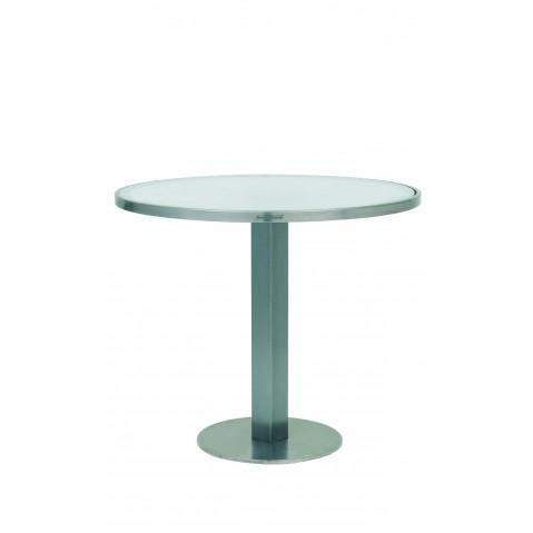 Table O-Zon 90 de Royal Botania verre blanc