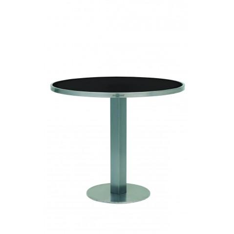 Table O-Zon 90 de Royal Botania verre noir