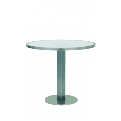 Table O-ZON 90 verre EP de Royal Botania blanc