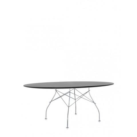 Table ovale GLOSSY de Kartell, Noir
