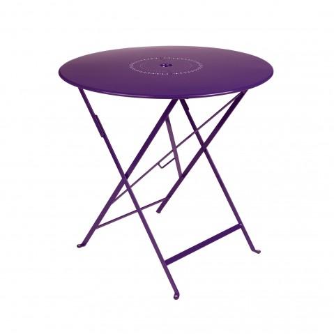 Table pliante FLORÉAL de Fermob D.77 aubergine