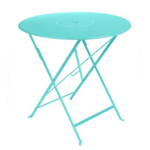 Table pliante FLORÉAL de Fermob D. 77 Bleu lagune
