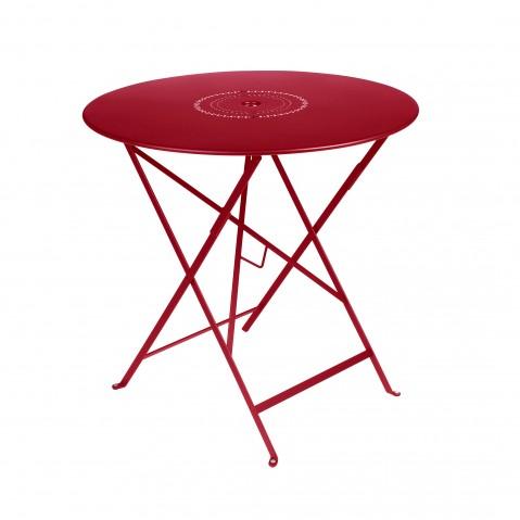 Table pliante FLORÉAL de Fermob D.77 piment