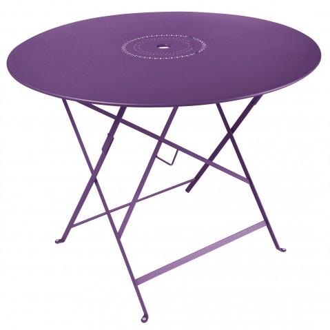 Table pliante FLORÉAL de Fermob D.96 aubergine
