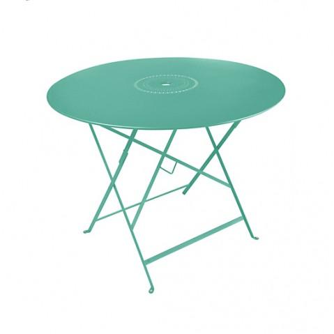 Table pliante FLORÉAL de Fermob D. 96 Bleu lagune
