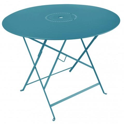 Table pliante FLORÉAL de Fermob D.96 bleu turquoise