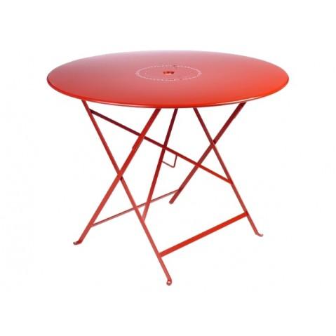 Table pliante FLORÉAL de Fermob D.96 coquelicot