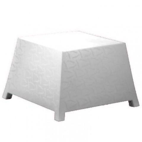 Table/Pouf RAFFY-M10 Qui est Paul Blanc Coussin Gris