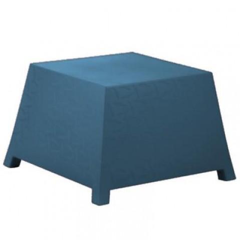 Table/Pouf RAFFY-M10 Qui est Paul Bleu Coussin Gris