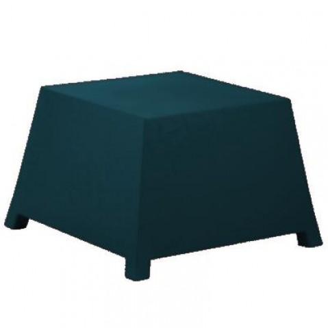 Table/Pouf RAFFY-M10 Qui est Paul Bleu Nuit Coussin Gris