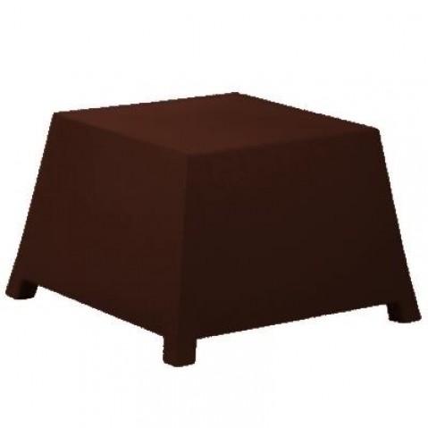 Table/Pouf RAFFY-M10 Qui est Paul Chocolat Coussin Gris