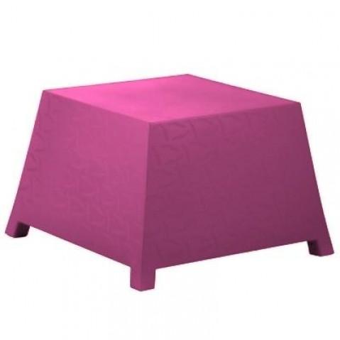 Table/Pouf RAFFY-M10 Qui est Paul Fushia Coussin Gris