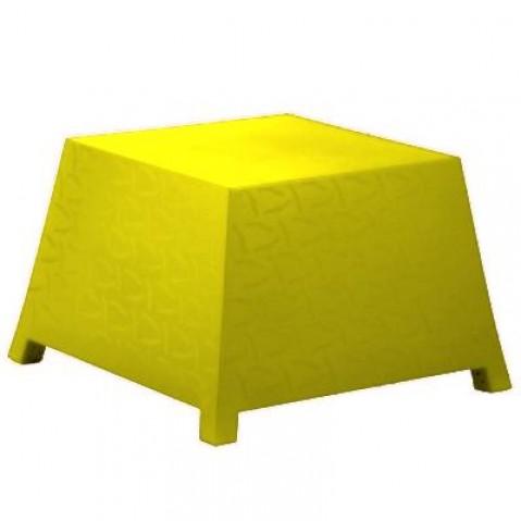 Table/Pouf RAFFY-M10 Qui est Paul Jaune Coussin Gris