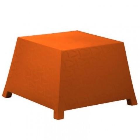 Table/Pouf RAFFY-M10 Qui est Paul Orange Coussin Gris
