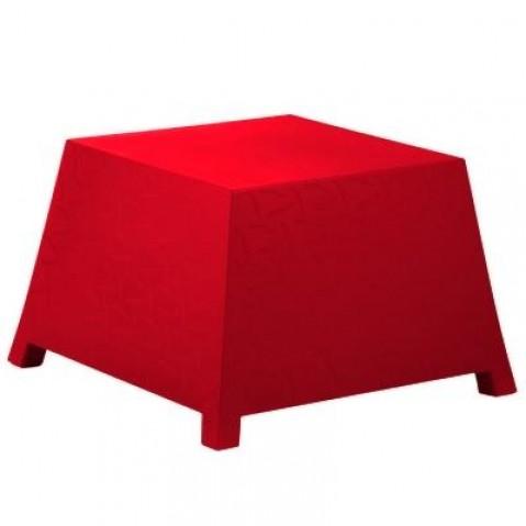 Table/Pouf RAFFY-M10 Qui est Paul Rouge Coussin Gris