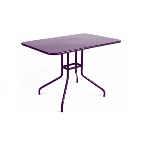 Table rabattable PÉTALE de Fermob 110 cm aubergine