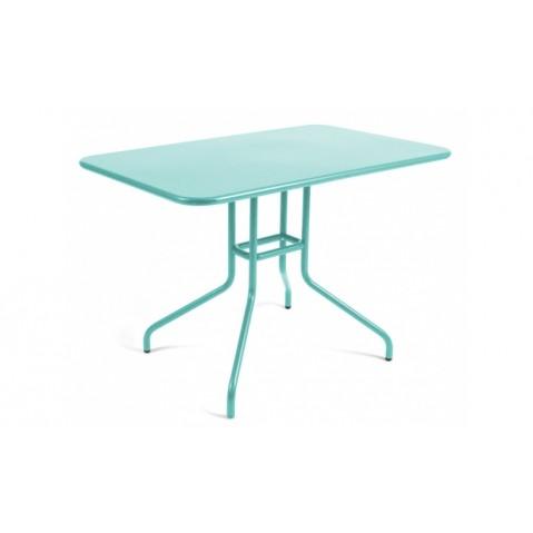 Table rabattable PÉTALE de Fermob 110 cm, Bleu lagune