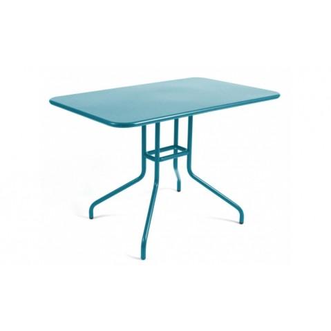 Table rabattable PÉTALE de Fermob 110 cm bleu turquoise
