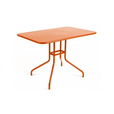 Table rabattable PÉTALE de Fermob 110 cm carotte